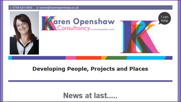 Karen Openshaw Newsletter Header