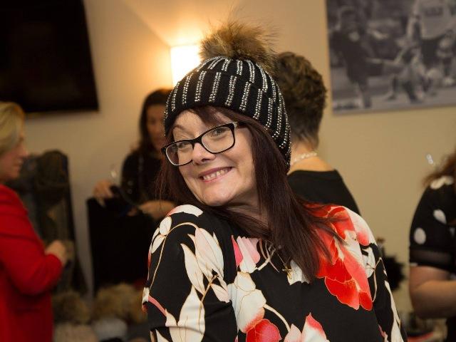 Photo of Karen Openshaw wearing bobble hat